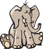 Sitting Elephant Royalty Free Stock Photos