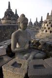 sitting för borobudurbuddha meditation Royaltyfri Foto