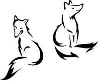Sitting Fox Royalty Free Stock Image