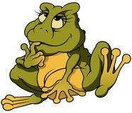 Sitting Frog Binky Royalty Free Stock Photos