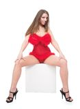 Sitting girl Royalty Free Stock Image
