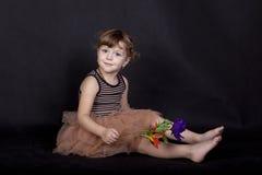 Sitting girl Stock Photography