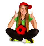 Sitting girl with ball Stock Photo