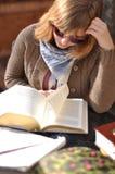 Sitting, Girl, Reading, Human Behavior stock photography