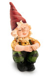Sitting Gnome. Sitting Gnome isolated with clipping path Royalty Free Stock Image