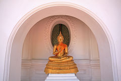 Sitting golden Buddha statue Stock Photography