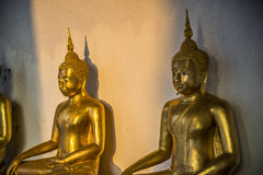 Sitting Golden Buddha statue in the Thai Temple4 Stock Image