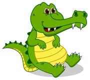 Sitting green crocodile Stock Photo
