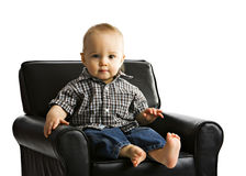 Sitting Handsome Stock Photography