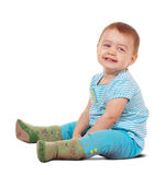 Sitting happy toddler Royalty Free Stock Photo
