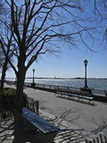 Sitting at the Hudson river Stock Photography