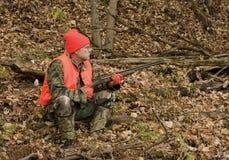 Sitting hunter Stock Photography
