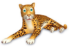 Sitting Leopard cartoon character Royalty Free Stock Photos
