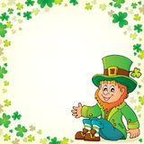 Sitting leprechaun theme image 5 Stock Photos
