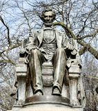 Sitting Lincoln Frontal View stock photos