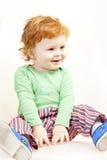 Sitting little boy Royalty Free Stock Photos