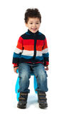 Sitting little boy Stock Photography