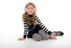 Sitting Little Girl. Royalty Free Stock Photos
