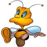 Sitting little wasp Stock Photos