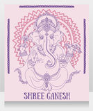 Sitting Lord Ganesha Royalty Free Stock Photography