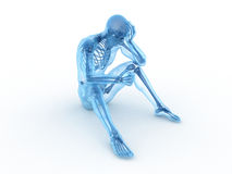 Sitting male skeleton Royalty Free Stock Photo