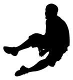 Sitting Man. A silhouette of a man sitting down Royalty Free Stock Image
