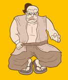 Sitting monk Royalty Free Stock Images