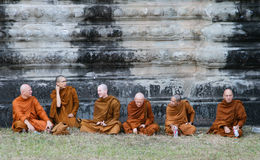 Sitting Monks Royalty Free Stock Photos