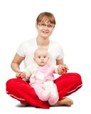 Sitting  mother with  daughter Stock Images