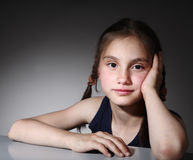 Sitting nice child Royalty Free Stock Photo