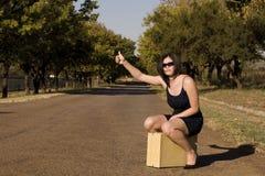 Free Sitting On Suitcase Thumb Stock Photography - 2418542