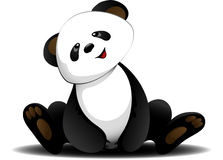 Sitting panda Stock Photography