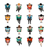 Sitting People Top View Royalty Free Stock Image