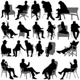 Sitting people vector Royalty Free Stock Photo