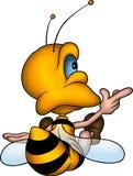 Sitting petite wasp Stock Image