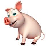 Sitting   Pig cartoon character Stock Photo
