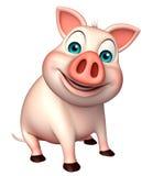 Sitting   Pig cartoon character Stock Photography