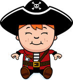 Sitting Pirate Boy Royalty Free Stock Photo