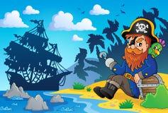 Sitting pirate theme image 2 Stock Image