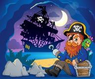 Sitting pirate theme image 3 Royalty Free Stock Image