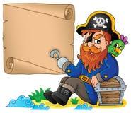 Sitting pirate theme image 6 Royalty Free Stock Photos