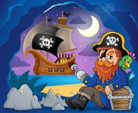 Sitting pirate theme image 7 Royalty Free Stock Images