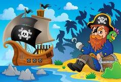 Sitting pirate theme image 8 Stock Photography