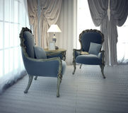 Sitting place for negotiation in private house Royalty Free Stock Photos