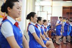 Sitting posture training-Etiquette training Stock Image