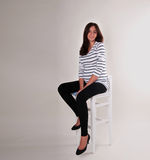 Sitting pregnant woman Royalty Free Stock Photography
