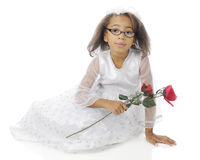Sitting Pretty in Her Dressy Dress Stock Photography