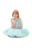 Sitting Princess Girl. Stock Photos
