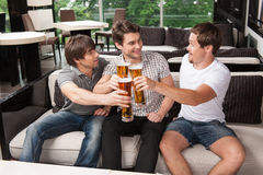 Sitting at the pub Stock Photography