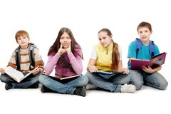 Sitting pupils Stock Image
